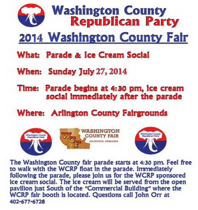 2014 WCRP County Fair parade & ice cream social