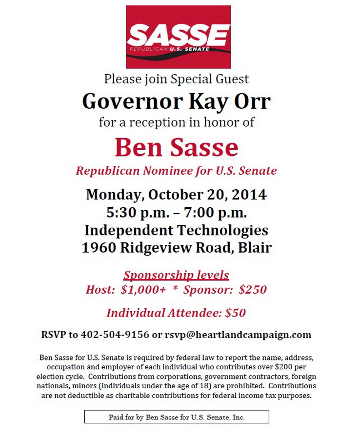 Sasse event Oct 2014 Blair