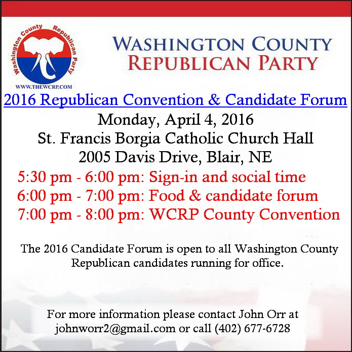 2016 WCRP Convention & candidate forum announcement