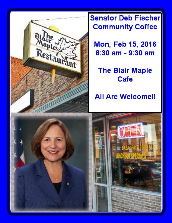 Senator Fischer Coffee Blair Feb 15, 2016