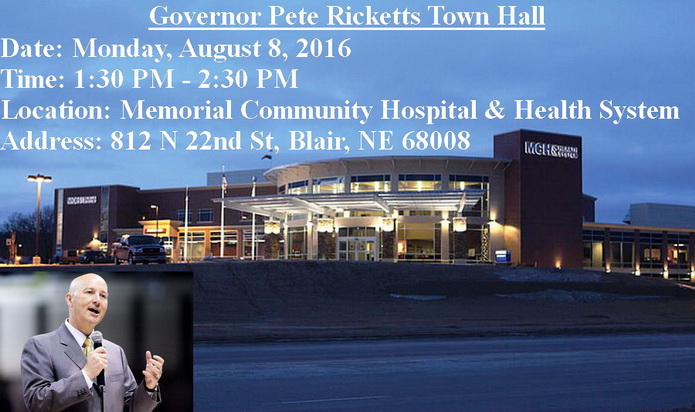 Gov. Ricketts town hall Blair MCHHS 2016a 695px