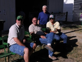 Scott Japp, Bob Boettger, Lee Brasch solving world problems