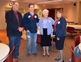 Lee Brasch, Taylor Gage, Governor Kay Orr, Senator Lydia Brasch