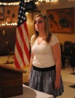 Courtney Mulder sings National Anthem