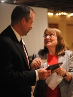 Senator Brasch surprises Chairman John Orr