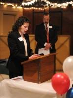 WCRP Secretary Lisa Kramer reads Congressman Fortenberry letter