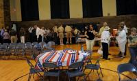 Boy Scouts start food line